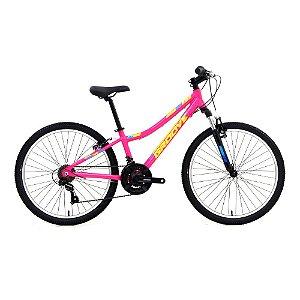 Bicicleta Aro 24 - Groove Indie - Shimano 21 Velocidades  - Alumínio - Rosa