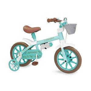 Bicicleta Infantil Aro 12 - Nathor Antonella - Aço - Azul ou Rosa Pastel