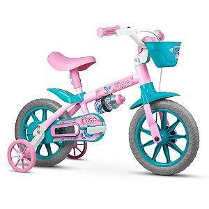 Bicicleta Infantil Aro 12 - Nathor Charm - Aço - Rosa e Verde