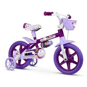 Bicicleta Infantil Aro 12 - Nathor Puppy - Aço - Roxo
