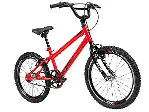 Bicicleta Aro 20 - Caloi Expert - Single Speed - Aço - Vermelha