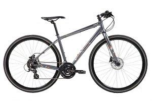 Bicicleta Aro 700 - Caloi City Tour Sport 2021 - Shimano Tourney - Alum - Cinza/Vermelho