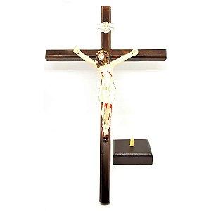 Crucifixo de mesa Slim c/ Cristo em resina 40 cm