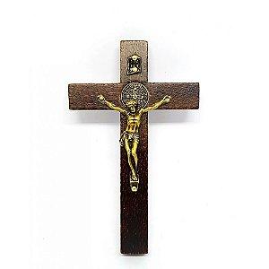 Crucifixo Rústico de Porta São Bento 12 cm