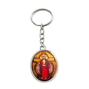 CHAVEIRO COM CORRENTE JESUS DAS SANTAS CHAGAS