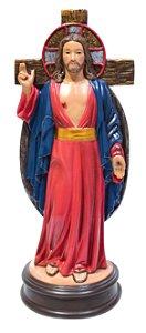 IMAGEM JESUS DAS SANTAS CHAGAS ORIGINAL EM REZINA 15 CM