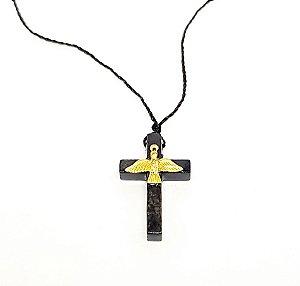 Cruz com Espírito Santo no cordão fino 3,2 cm