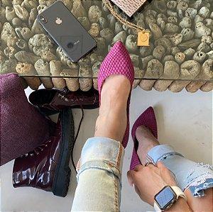 Scarpin Tresse Pink