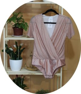 BODY TRANSPASSADO LUREX OLD ROSE