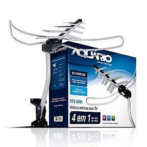 Antena Externa DTV-3000 + 16m de Cabo + Mastro - Aquário