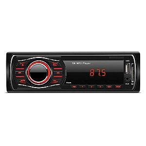 Rádio Automotivo MP3 Player Mondial - FM com Sintonia Digital, Entrada Auxiliar, USB e SD Card - AR-04