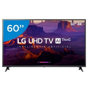 "Smart TV 4K LED 60"" LG 60UK6200 Wi-Fi HDR - Inteligência Artificial Conversor Digital 3 HDMI"