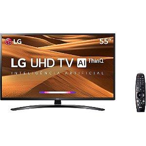 """Smart TV LED 55"""" UHD 4K LG 55UM7470 ThinQ AI Inteligência Artificial com IoT, HDR Ativo"""