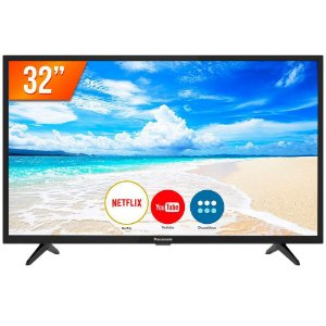 Smart TV LED HD 32 Panasonic TC-32FS500B 2 HDMI 2 USB Preto