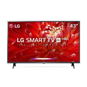 "Smart TV LED 43"" Full HD LG 43LM6300PSB ThinQ AI Inteligência Artificial com IoT, Virtual Surround Sound"