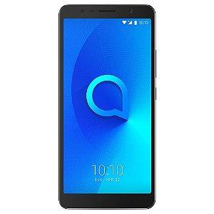 """Smartphone Alcatel 3C Preto, Tela Full View 18:9 de 6"""", Memória 16GB, TV Digital, Quad Core"""