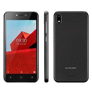 Smartphone Multilaser E 3G 16GB Tela 5.0 Quad Core Câmera traseira 5MP + 5MP frontal