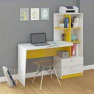 Escrivaninha Poliman - Branco/Amarelo