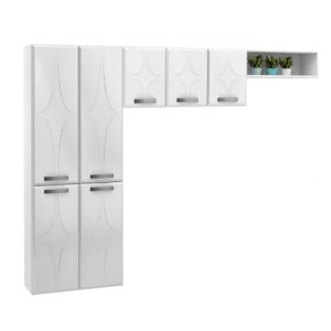 Cozinha Compacta 3 Peças sem Balcão Rubi Telasul Branco