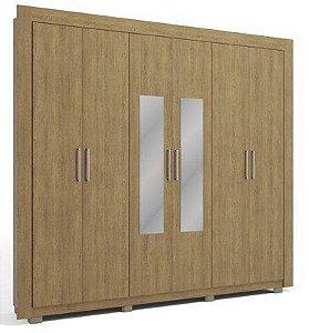 Guarda Roupa Kappesberg H736, 6 portas, 2 gavetas com espelho