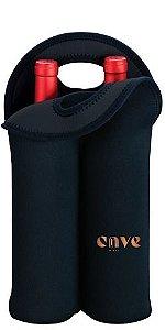 Porta Garrafa em Neoprene para 2 garrafas (preto)
