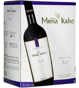 Mena Kaho Merlot Bag in Box 3L