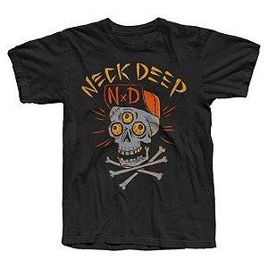 Neck Deep, Skulls Orange - Camiseta