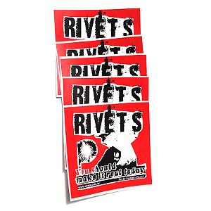 Adesivo Rivets (pacote 5 adesivos)