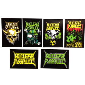 Adesivo Nuclear Assault (pacote 6 unidades)