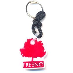Chaveiro Fresno, Emborrachado - Vermelho e Branco