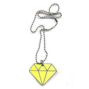 Cordão Diamante Fechado - Amarelo