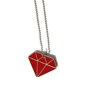 Cordão Diamante Fechado - Vermelho