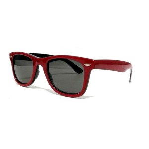 Óculos Retro - Vermelho e Preto
