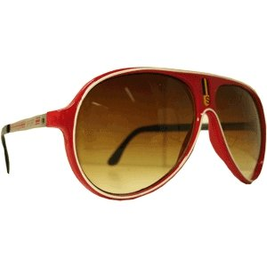 Óculos Sport - Vermelho  - Borda Branca