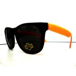 Óculos Retro Light -  Preto e Laranja