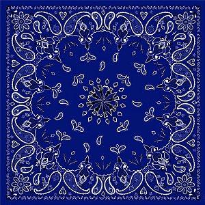 Lenço Bandana importado, Blue Paisley