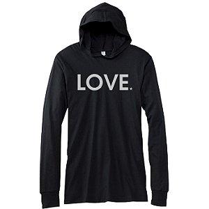 Camiseta Love, manga comprida capuz