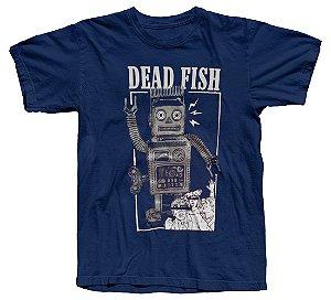 Camiseta Dead Fish, Robô Prateado
