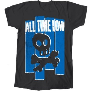 Camiseta All Time Low, Blue Skull