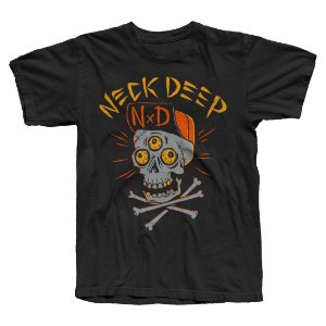 Camiseta Neck Deep, Skulls Orange