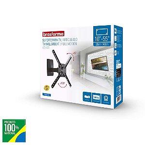 Suporte Tv LCD de 10¨ a  55¨ Braço articulado SBRP130 Brasforma