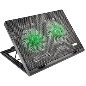Cooler para Notebook Warrior Gamer com led verde luminoso