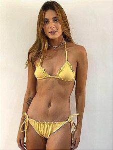 Biquíni Maia Amarelo Lurex