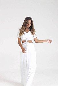 Vestido Longo Nó Branco
