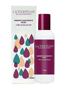 Sabonete Líquido Equilibrante Facial 120mL – La Vertuan – Bio Vegan