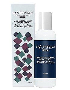 Shampoo para Cabelos, Barba e Corpo 240mL – La Vertuan – Bio Vegan