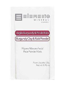 Argila Burgundy & Pó de Rubi 30g – Elemento Mineral
