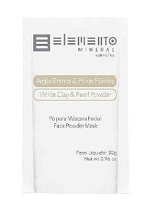 Argila Branca & Pó de Pérolas 30g – Elemento Mineral