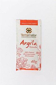 Argila Orgânica e Certificada Vermelha - Terramater -   40g
