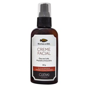 Creme Facial Biomas do Sul Orgânico Natural Vegano 60g - Cativa Natureza